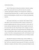 Alcoholism Research Paper