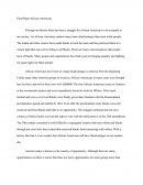 Final Paper - African Americans