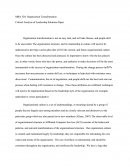 Mba 520 - Critical Analysis of Leadership Solutions Paper