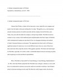 A Strategic Management Paper on Walmart