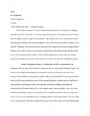 "Literary Analysis of ""the Catcher in the Rye"""