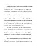 Critical Thinking and Language Essay
