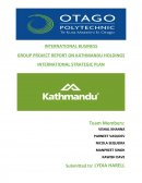 International Business Group Project Report on Kathmandu Holdings International Strategic Plan