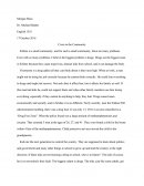 Essay over Dumb Community Drug Problem