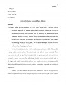 Artificial Intelligence Research Paper - Robotics