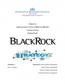 A Report on Global Investment Activity of Blackrock 2005-2015